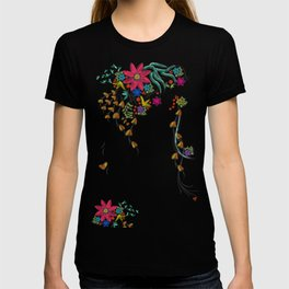 Vibrant Floral to Floral T-shirt