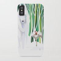 princess mononoke iPhone & iPod Cases featuring Princess Mononoke by youcoucou