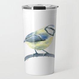 Blue tit, watercolor painting Travel Mug