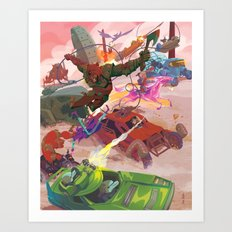 The Adventure Zone Pedals to the Metal Art Print
