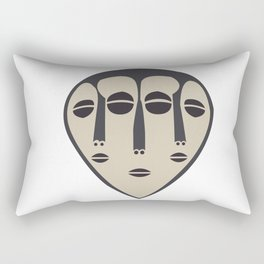 African Tribal Mask No. 5 Rectangular Pillow