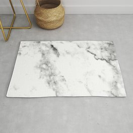 Gentle Marble Collection: Soft Ebony White With Ashen Veins Rug
