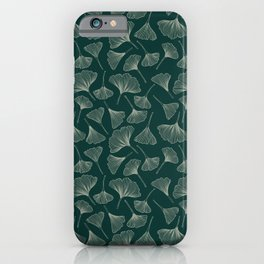 Ginkgo Leaves green iPhone Case