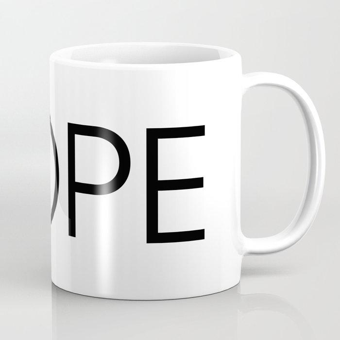 Nope text Coffee Mug