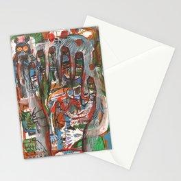 Mà abstracta de colors amb monstre a l 'esquerra Stationery Cards