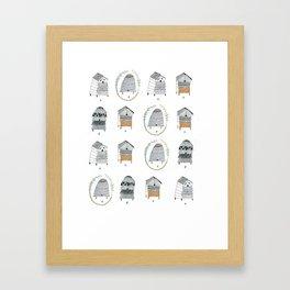 Beehive Pattern. Framed Art Print