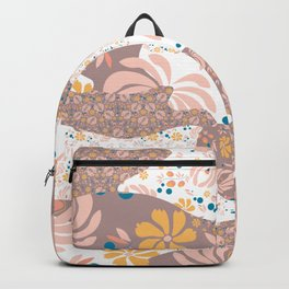 Peachy Floral Camo Backpack