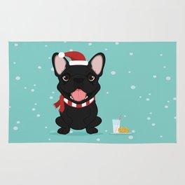 French Bulldog Waiting for Santa - Black / Brindle Edition Rug