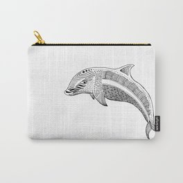 Decorated  Dolphin Carry-All Pouch