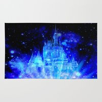 castle in the sky Area & Throw Rugs featuring Enchanted Castle by Whimsy Romance & Fun