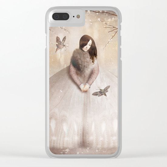 Moth Princess Clear iPhone Case