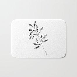 Branch White Bath Mat