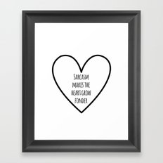 Sarcasm Framed Art Print