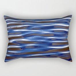 Blue Corrugated Water Rectangular Pillow