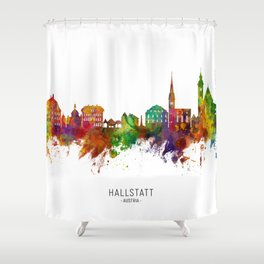 Hallstatt Austria Skyline Shower Curtain