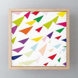 colored arrows Framed Mini Art Print