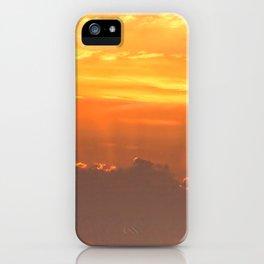 Sun rays over Happisburgh iPhone Case