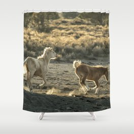 Kicking Up Dust, No. 1 Shower Curtain