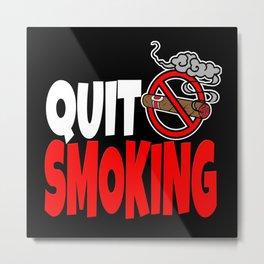 No Smoking Cigarette Smoking Tobacco Metal Print