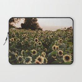 Sunflower fields and peach skies Laptop Sleeve