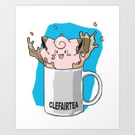 Clefairtea Art Print