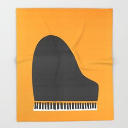 Grand Piano Throw Blanket
