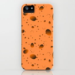 Large mustard drops and petals on a light background in nacre. iPhone Case