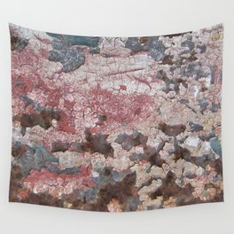 Cracking Paint and Rust Abstract Wall Tapestry
