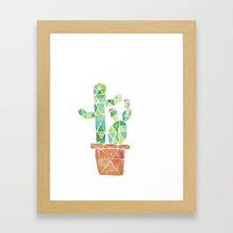 Geometric Cacti Framed Art Print