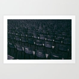 chairs in Vatican Art Print