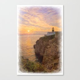 Cape St Vincent sunset Canvas Print