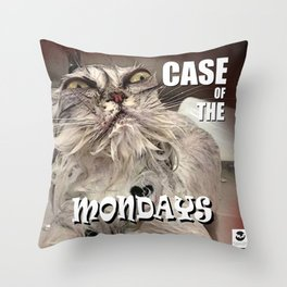 Case of the Mondays - CAT Throw Pillow