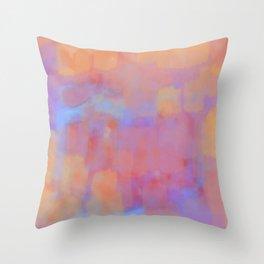 Watercolor Rainbow Throw Pillow