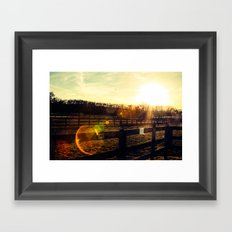 Sun Salutation  Framed Art Print