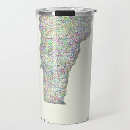 Vermont map Travel Mug