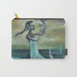 African American Masterpiece 'Girl at the Ocean' by Karl Priebe Carry-All Pouch
