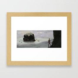 a crumbling hope Framed Art Print