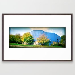 IN LONDON BY THE CANAL Framed Art Print