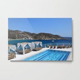 Tropical Luxury Resort Pool Metal Print