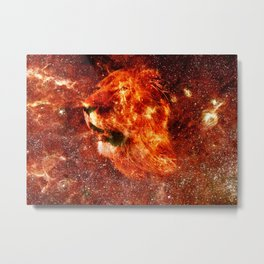Fire lion Metal Print