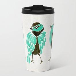 Turquoise Finches Travel Mug