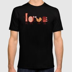 Meat Love U MEDIUM Black Mens Fitted Tee