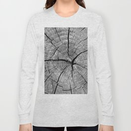 Weathered Old Wood Texture Long Sleeve T-shirt