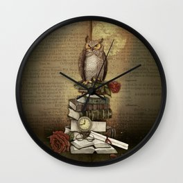 The Bibliophile - (the lover of books) Wall Clock