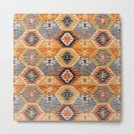Oriental Carpet Design Metal Print