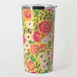 Minnie (Painted Flower Pattern) Travel Mug