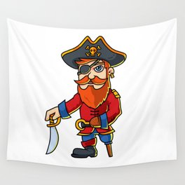 Pirate Cartoon Character Wall Tapestry