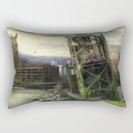 Portland in 100 years with no people Rectangular Pillow