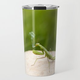Smoking Praying Mantis Travel Mug
