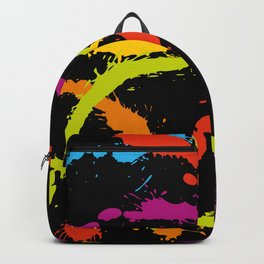 Splattered Rainbow [BLACK] Backpack